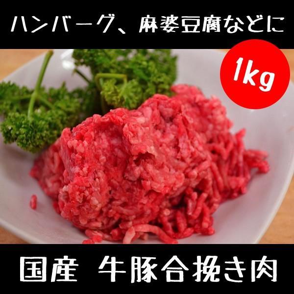 牛 豚 合挽き肉 1kg|meatshopitou298