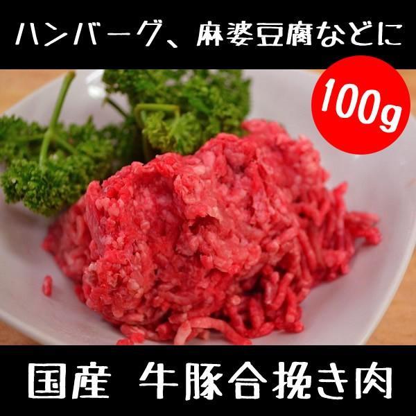 牛 豚 合挽き肉 100g|meatshopitou298