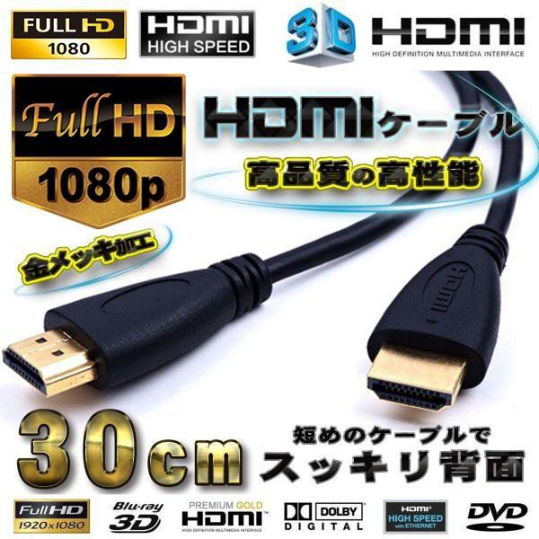 HDMIケーブル0.3m3D対応フルハイビジョン背面美人 ver1.4