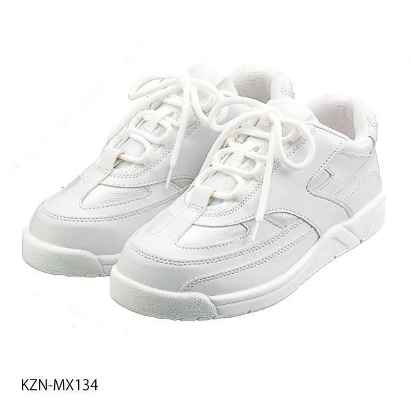96d645d770dd3 ナースシューズ 白 カゼン スニーカー MX134 ホワイト 男女兼用 ヒモタイプ 軽量の画像