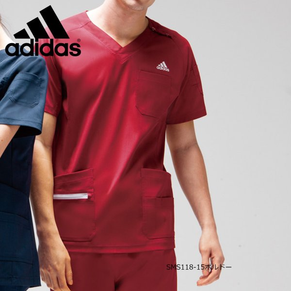 白衣 手術衣 アディダス メンズスクラブ SMS118-15(17・18・21・33) カゼン|medi-wear|02
