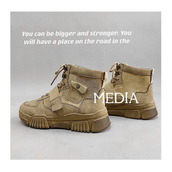 マーチンブーツ メンズ シューズ 靴 メンズファッション ショートブーツ ハイカット ブーツ 紳士靴 復古 厚底 カジュアルシューズ 秋冬 新作 送料無料 無地|media-saronstore|13