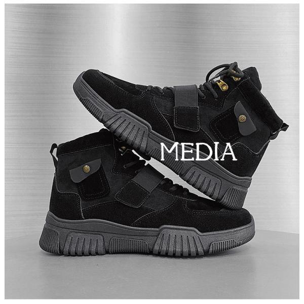 マーチンブーツ メンズ シューズ 靴 メンズファッション ショートブーツ ハイカット ブーツ 紳士靴 復古 厚底 カジュアルシューズ 秋冬 新作 送料無料 無地|media-saronstore|14