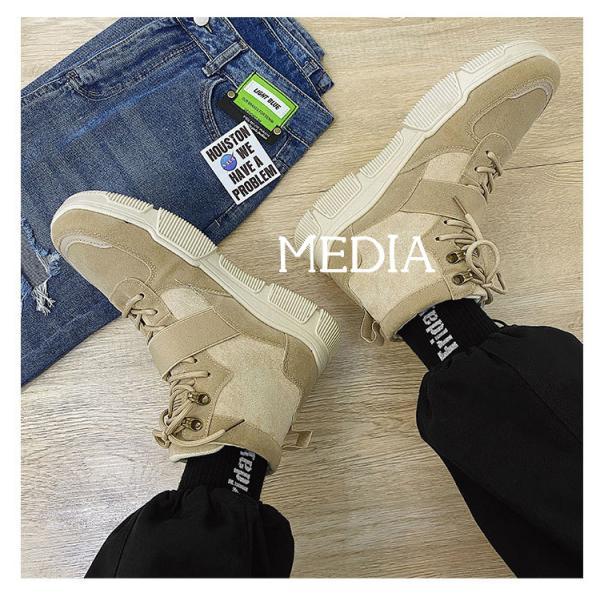 マーチンブーツ メンズ シューズ 靴 メンズファッション ショートブーツ ハイカット ブーツ 紳士靴 復古 厚底 カジュアルシューズ 秋冬 新作 送料無料 無地|media-saronstore|05
