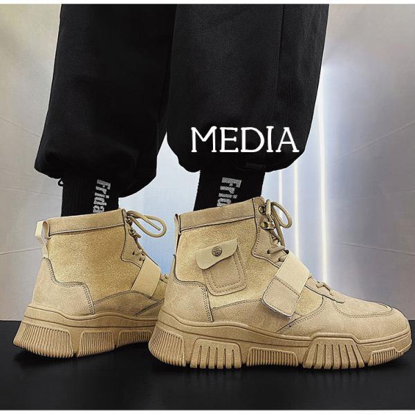 マーチンブーツ メンズ シューズ 靴 メンズファッション ショートブーツ ハイカット ブーツ 紳士靴 復古 厚底 カジュアルシューズ 秋冬 新作 送料無料 無地|media-saronstore|07