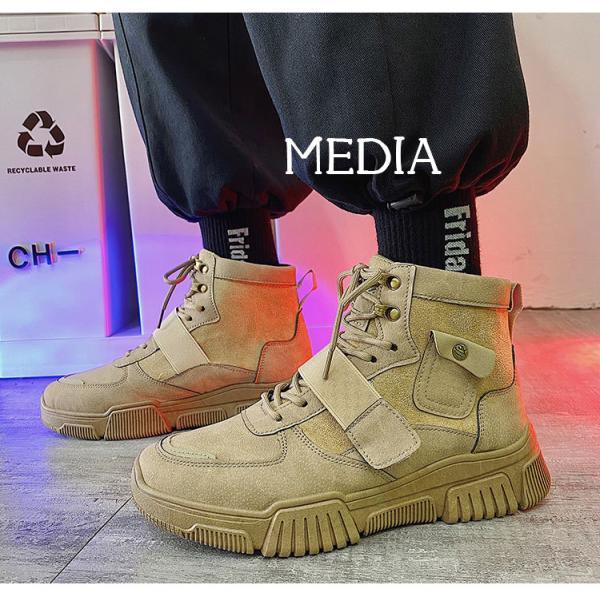マーチンブーツ メンズ シューズ 靴 メンズファッション ショートブーツ ハイカット ブーツ 紳士靴 復古 厚底 カジュアルシューズ 秋冬 新作 送料無料 無地|media-saronstore|08