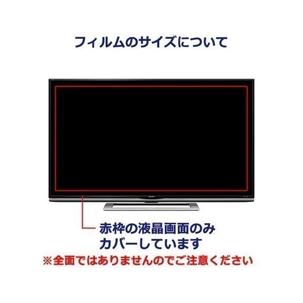 モーション MDTV-16K100 ブルーライトカット 反射防止 指紋防止 気泡レス 液晶保護フィルム
