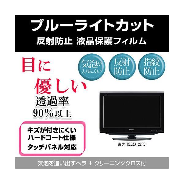 東芝 REGZA 22R3 ブルーライトカット 反射防止 指紋防止 気泡レス 液晶保護フィルム
