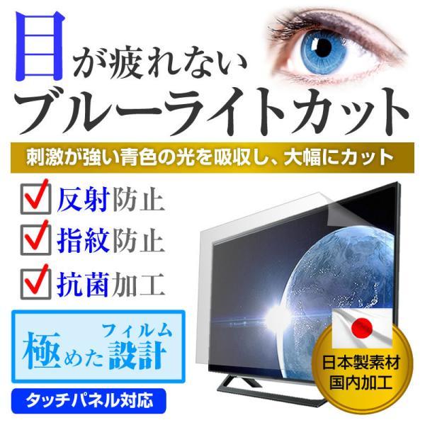 三菱電機 カンタンサイネージ DSM-32L8 ブルーライトカット 反射防止 液晶TV 保護フィルム 指紋防止 気泡レス加工  キズ防止