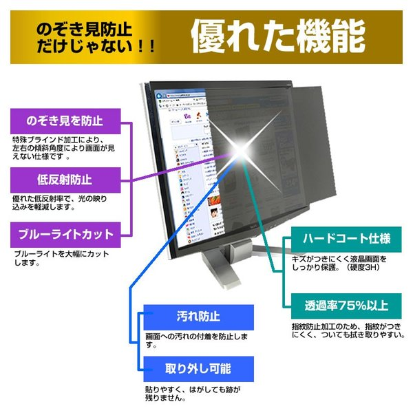 IODATA LCD-AD192SEDW のぞき見防止 プライバシー フィルター 左右 覗き見防止|mediacover|03