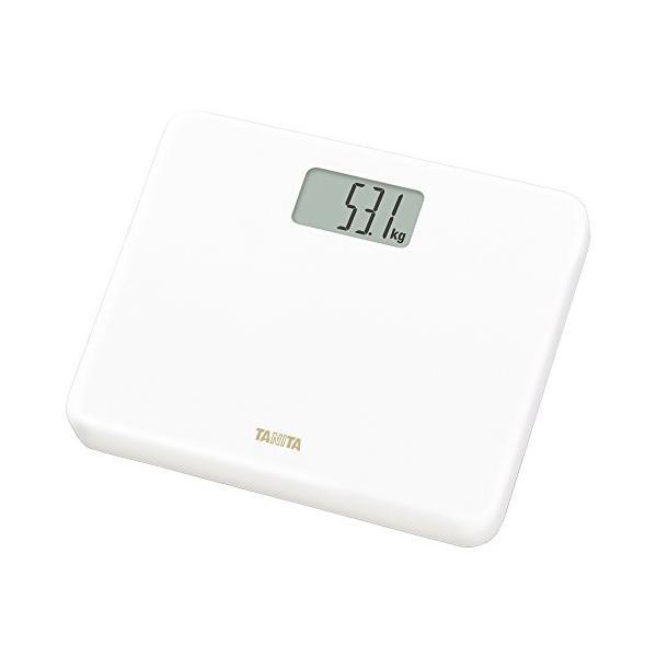 タニタ 体重計 小型 ホワイト HD-660 WH 乗るだけで電源オン 約B5サイズ|mediaearth|02