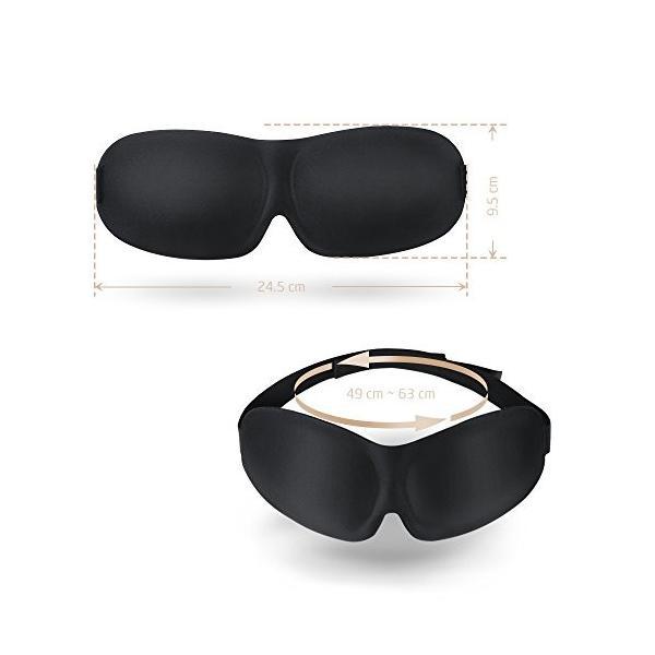 PLEMO アイマスク 立体型 安眠 遮光 睡眠 軽量 圧迫感なし 昼寝 眼精疲労 疲労回復に最適 (ブラック) EM-452|mediaearth|05