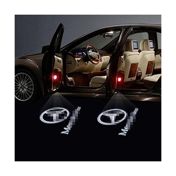ウェルカムライト、KVCH 1ペアLED礼儀照明ベンツCのための車のドアのレーザープロジェクターのロゴゴーストシャドーライトドアの装飾リムーバーとAm|mediaearth|03