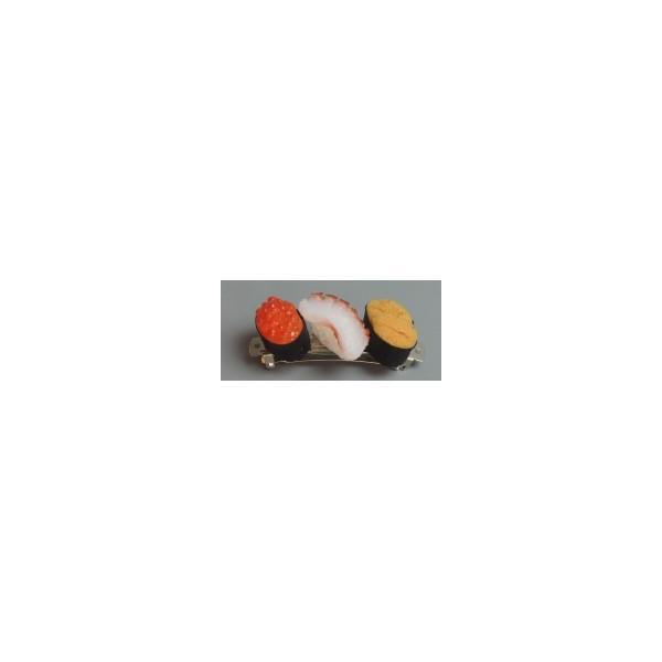 日本職人が作る  食品サンプル バレッタ ミニ寿司3貫セットC(たこ・うに・いくら) IP-400 代引き不可/同梱不可