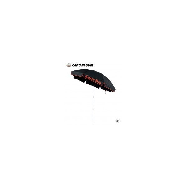 CAPTAIN STAG ユーロクラシックパラソル200cm(ブラック) M-1540 代引き不可/同梱不可