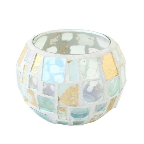 モザイクガラスホルダー ボール ホワイトゴールド 11218833003 代引き不可/同梱不可