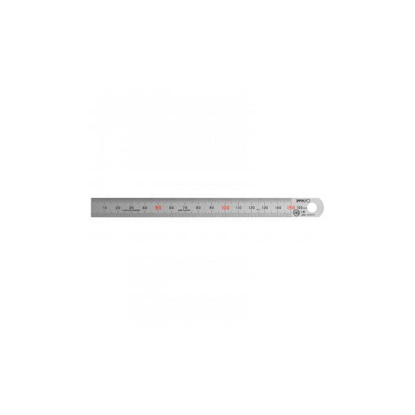 ステンレス・アルミ定規 ヤマヨ シルバー直尺 15cm 108-0002 代引き不可/同梱不可