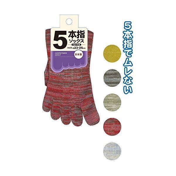 5本指ショートソックス(日本製) 〔10個セット〕 34-742