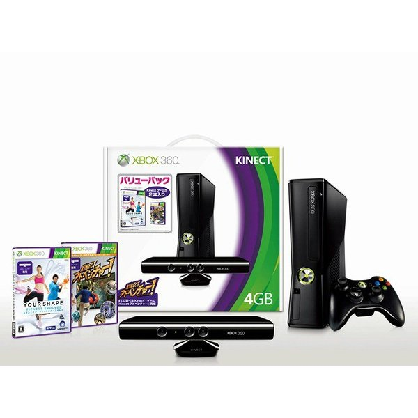 XBOX360本体 + Kinect バリューパック 4GBの画像