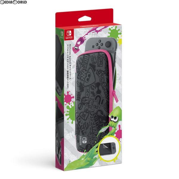 Nintendo Switch キャリングケース スプラトゥーン2エディション (画面保護シート付き) HAC-A-PSSADの画像