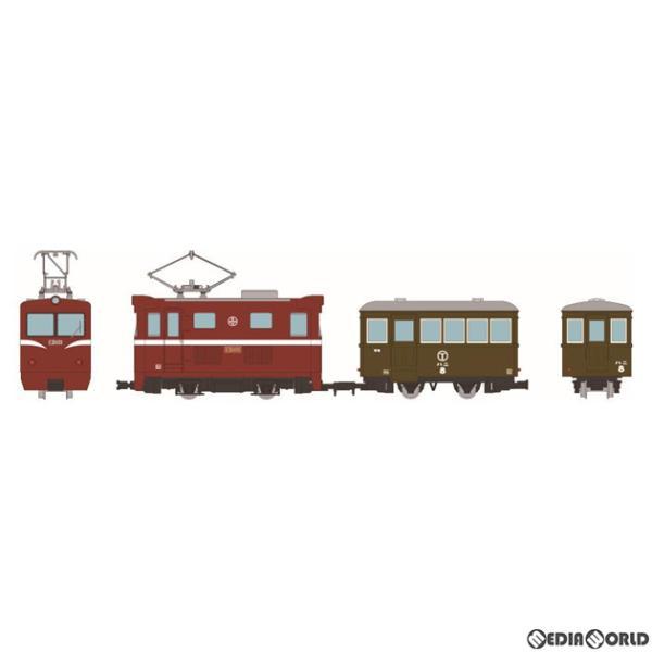 『新品』『お取り寄せ』{RWM}315476 鉄道コレクション ナローゲージ80 猫屋線直通用路面電気機関車+客車 2両セット(動力無し) 鉄道模型 TOMYTEC(20210625)