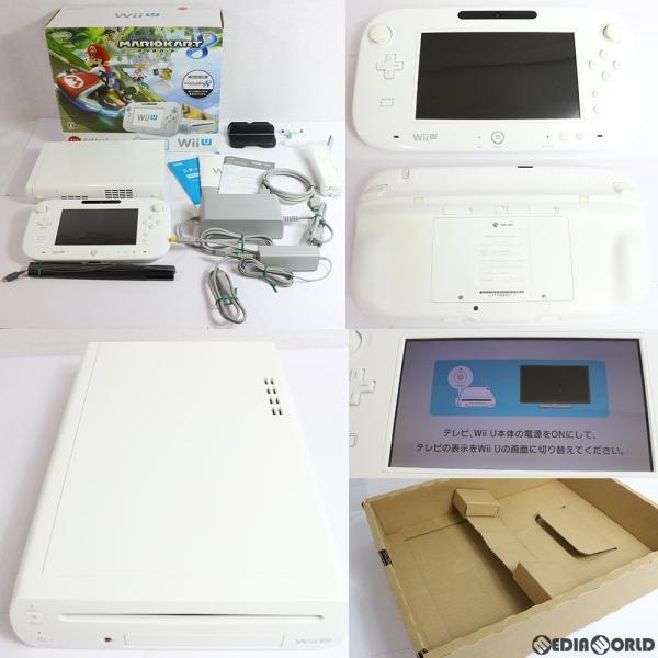 Wii U すぐに遊べる マリオカート8 セット シロ(初期化済)(WUP-S-WAGHの画像