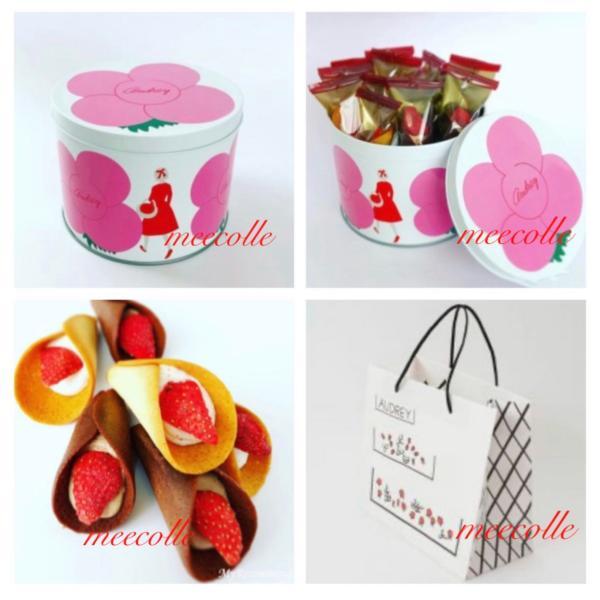 母の日2021AUDREY東京駅 オードリーグレイシアスペシャル缶ピンク缶(グレイシア14個入)ショップ袋付き