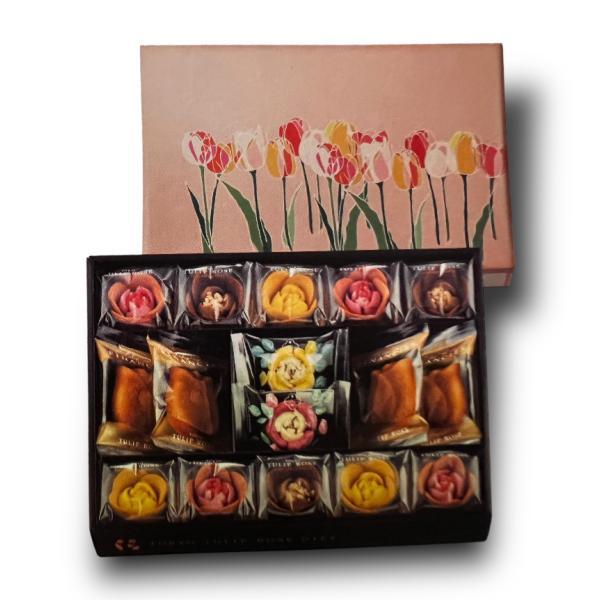 母の日2021東京チューリップローズお菓子チューリップローズコレクション17個入り詰め合わせ包装済み贈答用(専用手提げ袋付き)