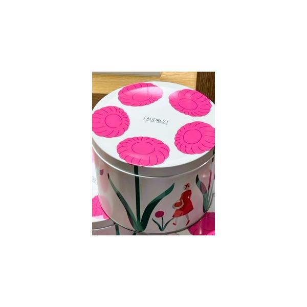 母の日2021AUDREY東京駅 (ピンク缶)オードリーグレイシア(グレイシア14個入)ショップ袋付きオードリー缶
