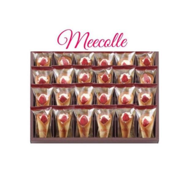 AUDREYオードリーグレイシア苺ミルク(24本入り)クッキー洋菓子お菓子焼菓子包装済み御中元お中元手提げ袋付き