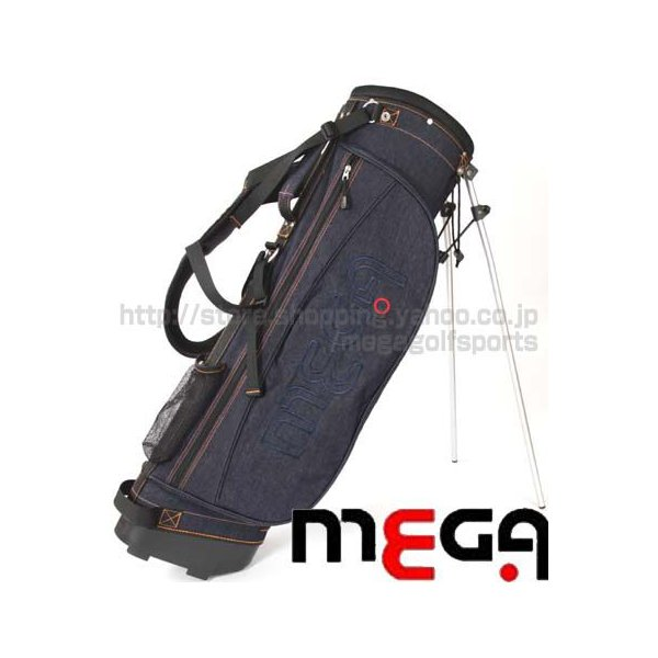 ★2.5kg!★ 軽量デニムスタンドキャディバッグ (8インチ) メガゴルフスポーツ