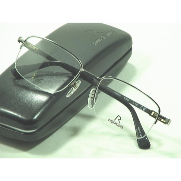 【RODENSTOCK-Exclusiv】ローデンストックメガネ R-0230-C-53mm 日本製高級メガネ度付きレンズセット