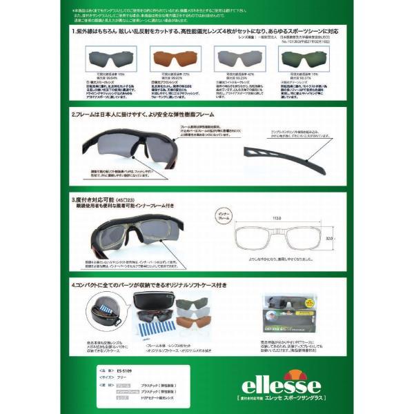 エレッセ スポーツサングラス ES-S109 度付き加工も激安(+1500円)   ellesse 偏光レンズ 交換レンズ4枚 meganezamurai 02