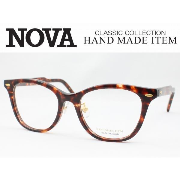 NOVA ノバ メガネフレーム H-4018-2 日本製 鯖江 ハンドメイド クラシカル クラシック セルロイド