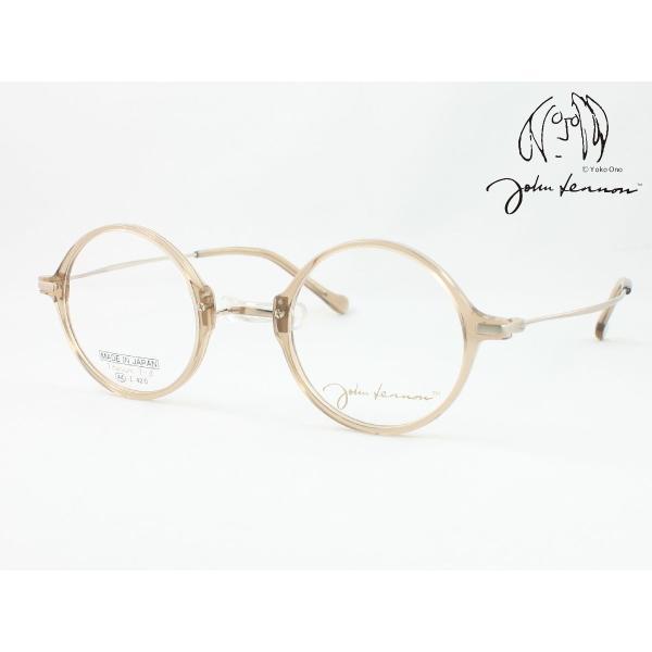 John Lennon ジョンレノン 日本製メガネフレーム JL-6018-3 丸メガネ ラウンド 一山 いちやま 度付き対応 近視 遠視 老眼 遠近両用 セルフレーム