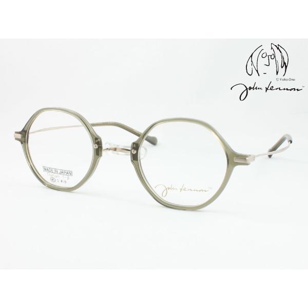 John Lennon ジョンレノン 日本製メガネフレーム JL-6019-4 丸メガネ 一山 いちやま 度付き対応 近視 遠視 老眼 遠近両用 セルフレーム 六角形 ヘキサゴン