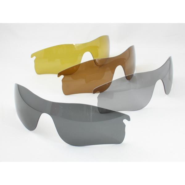 オークリー レーダーロックパス OO9206用 交換レンズ 日本製 偏光レンズ 4色展開 めがね侍オリジナルレンズ 偏光サングラス