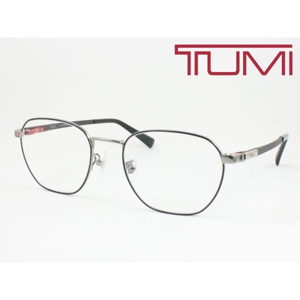 【超薄型レンズ0円 遠近も0円】TUMI トゥミ メガネフレーム STU035J-0599 軽量 チタン+カーボン 度付き対応 近視 遠視 老眼 遠近両用 大きめボストン