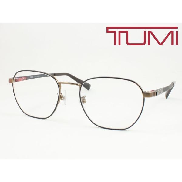 【超薄型レンズ0円 遠近も0円】TUMI トゥミ メガネフレーム STU035J-0V05 軽量 チタン+カーボン 度付き対応 近視 遠視 老眼 遠近両用 大きめボストン