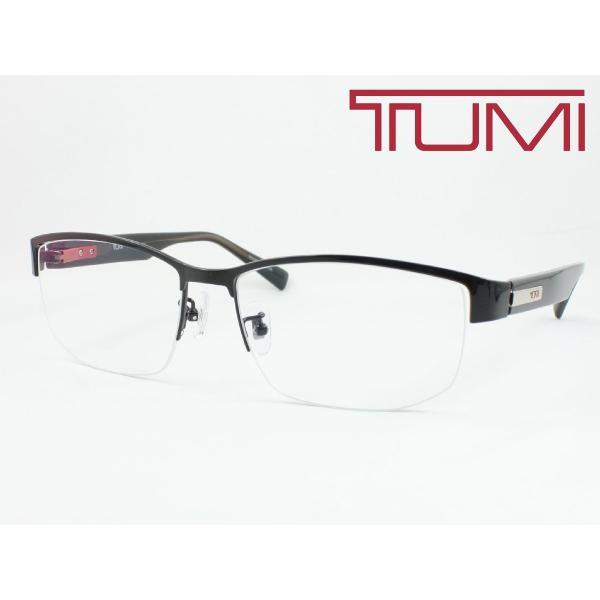 【超薄型レンズ0円 遠近も0円】TUMI トゥミ メガネフレーム STU036J-0530 軽量 チタン 度付き対応 近視 遠視 老眼 遠近両用 大きめナイロール