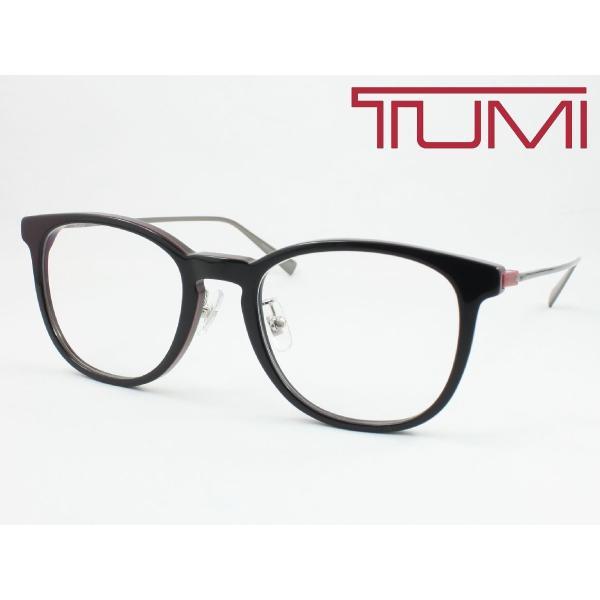 【超薄型レンズ0円 遠近も0円】TUMI トゥミ メガネフレーム STU037J-09H7 チタン 度付き対応 近視 遠視 老眼 遠近両用 大きめボストン クリングス付き 鼻パッド