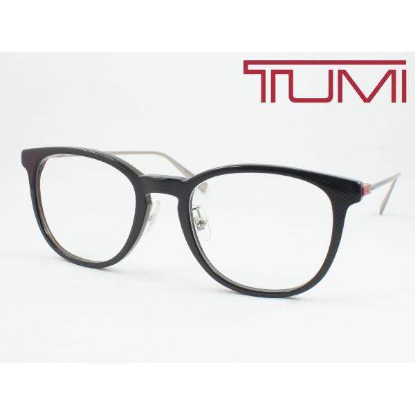 【超薄型レンズ0円 遠近も0円】TUMI トゥミ メガネフレーム STU037J-0DGR チタン 度付き対応 近視 遠視 老眼 遠近両用 大きめボストン クリングス付き 鼻パッド