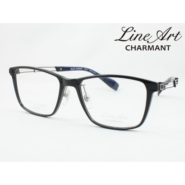 ラインアート シャルマン XL1823-BK 54サイズ Tenor テノール メガネフレーム 度付き対応 近視 遠視 老眼 遠近両用 日本製