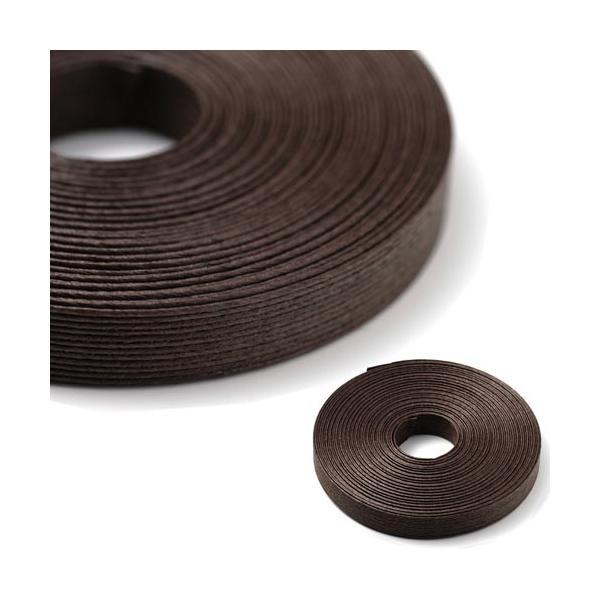 エコクラフトテープ  ダークブラウン 10m巻 15mm 12芯  国産 高品質 めぐみ手芸ブランド