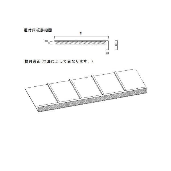 床の間 框付床板 ケヤキx框ケヤキ 910x900x100/9 DIY meibokuya-shop 03