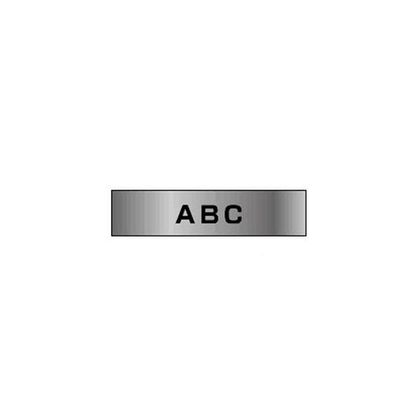 ピータッチ用 テープカートリッジ  銀マットテープ 8m  TZe−M931 銀(つや消し) 黒文字