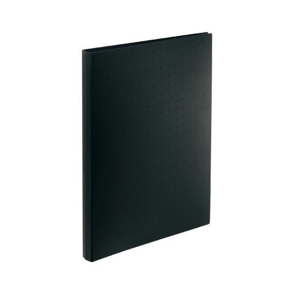 AQUA DROPs 名刺帳 ポケット交換タイプ  A4判タテ型・30穴(ヨコ入れタイプ)  A−5043−24 黒