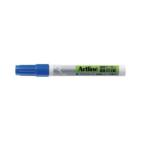 【まとめ買い10個セット品】 アートライン油性マーカー アルコール系インキ 丸3(1.5mm)  K−70  青