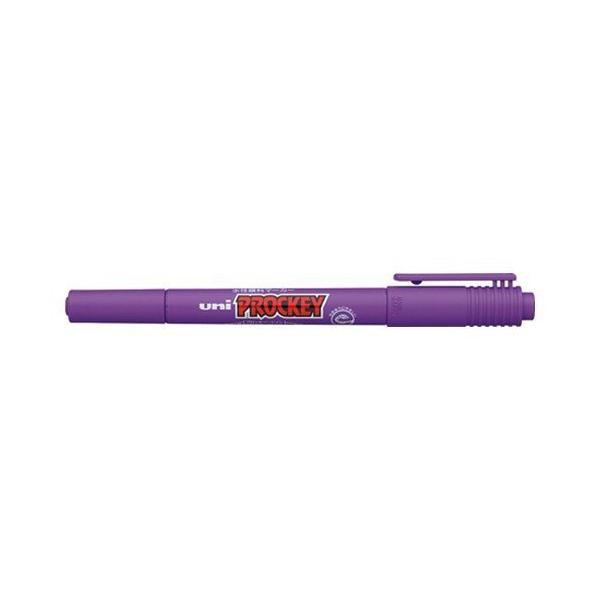 【まとめ買い10個セット品】 ユニ プロッキー  極細/細字丸芯(0.4mm・0.9mm)  PM−120T.12  紫