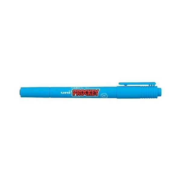 【まとめ買い10個セット品】 ユニ プロッキー  極細/細字丸芯(0.4mm・0.9mm)  PM−120T.8  水色